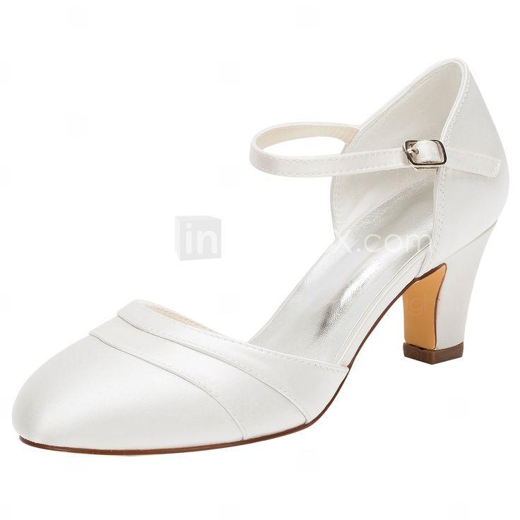 Mujer Zapatos Seda Primavera / Verano Zapatos con luz / Zapatos del club Tacones Tacón Stiletto Pedrería Dorado / Champaña / Marfil kUaexT