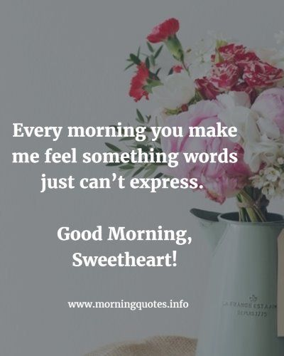 Love Quotes For Her To Say Good Morning : ... Morning For Her on Pinterest Good Morning Images, Images With Quotes