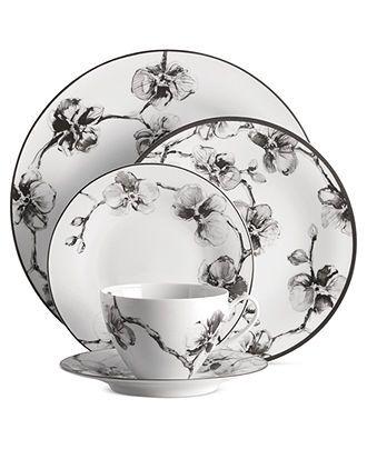 Michael Aram Dinnerware, Black Orchid 5 Piece Place Setting - Fine China - Dining & Entertaining - Macy's