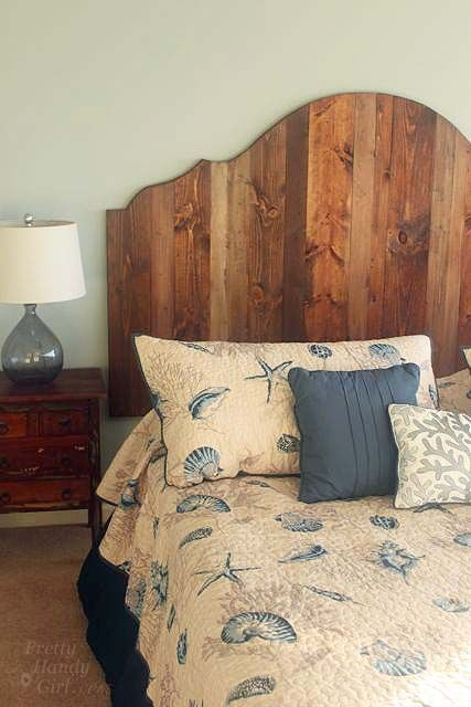 How to create a rustic wood headboard for 80 pretty for Cool diy headboards