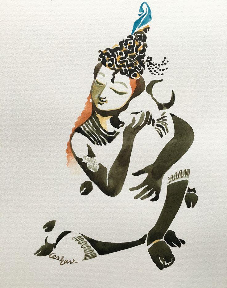 Vaatsalya. #watercolour #krishnafortoday