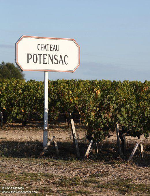Sign at Château Potensac, October 2012