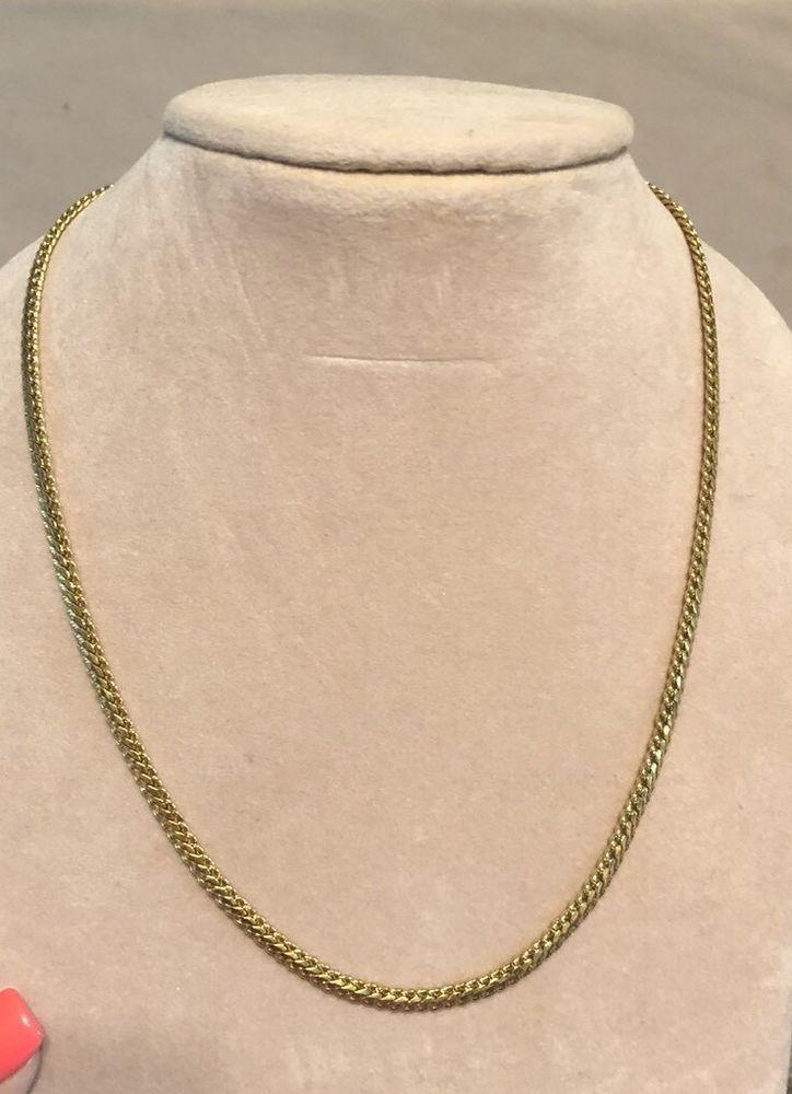 Beautiful Vintage Napier 18 Gold Necklace