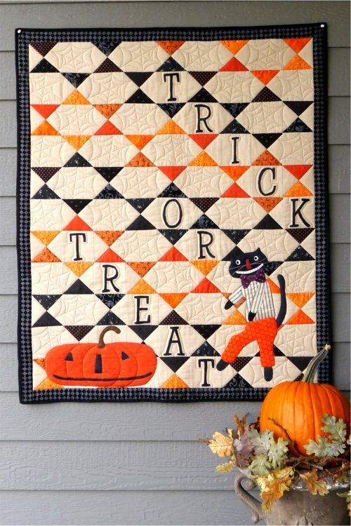 """Halloween Fun, 39 x 47"""", quilt pattern and kit by Joined at the Hip"""