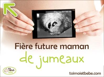 Fière future maman de jumeaux!
