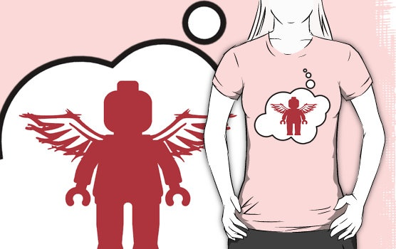 Minifig Angel T-shirt by Bubble-Tees.com by Bubble-Tees