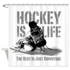 Hockey Is Life Shower Curtain