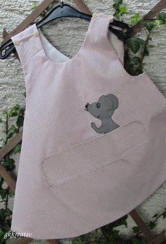 Schürzenkleidchen aus Herrenhemd / Apron dress made from old men's shirt / Upcycling