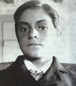 """Frank Leveridge, son of Anna and David, in his teens. Frank was killed in the First World War and was the subject of """"Over the Hills of Home"""", a well-known poem written by his sister Lillian Leveridge."""