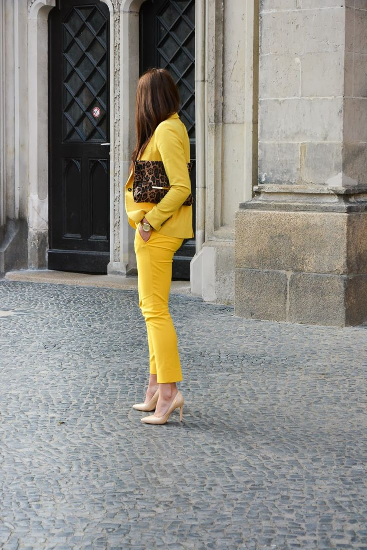 @roressclothes clothing ideas #women fashion Yellow Suit