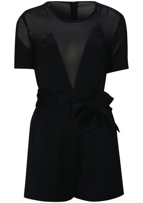 Satin Chiffon Playsuit,  $150: Kate Moss for Topshop | Boca Raton Magazine