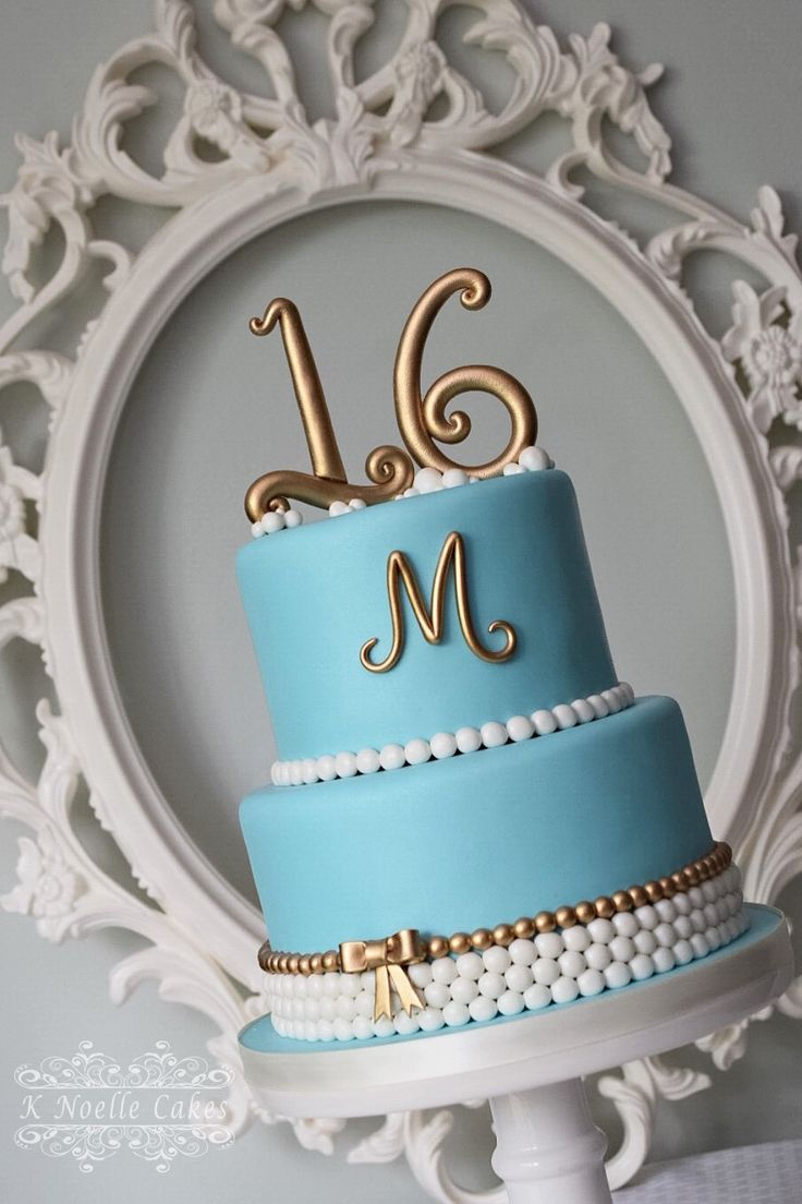 Sweet 16 Cake by K Noelle Cakes                                                                                                                                                                                 More