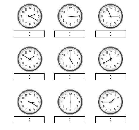 Link naar website waar je je eigen oefenbladen voor klokkijken kan samenstellen.
