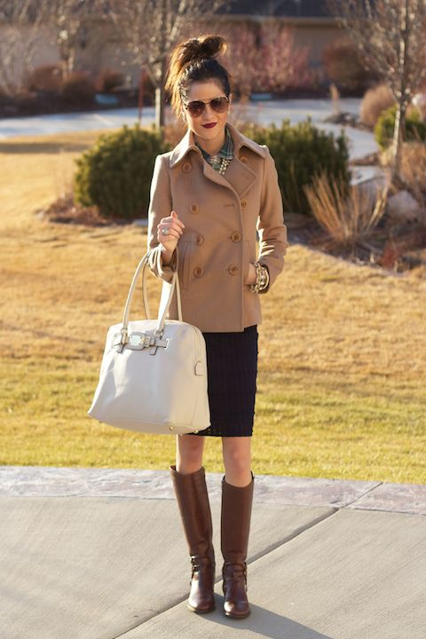 Riding boots, pea coats, large bags, pencil skirts - Trends for Fall 2012