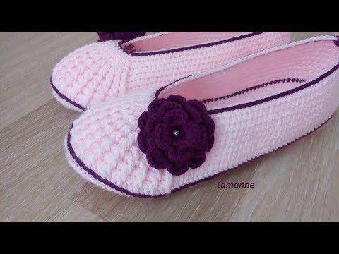 Çiçekli Babet Patik Yapılışı - YouTube