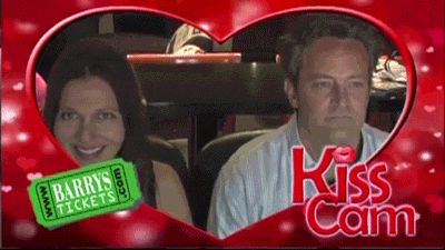 Even if you're a movie star.  | 17 Kiss Cam Moments That Went Wonderfully Wrong Or Terrifically Right