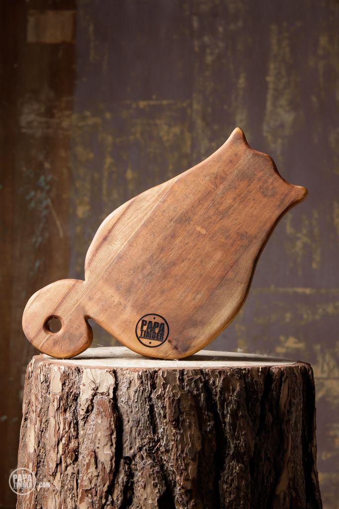 Fat Cat Deska do krojenia na aukcję WOŚP / Cat shaped wooden cuttingboard