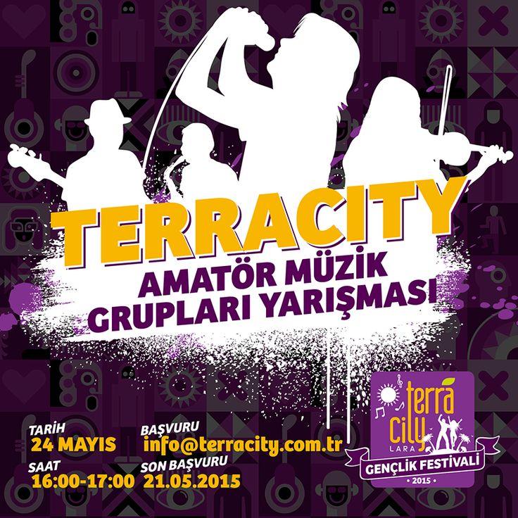 Amatör Müzik Grupları Yarışması 24 Mayıs Pazar günü #Terracity'de!   #antalya #lara #etkinlik #TerracityGençlikFestivali #amatör #müzikyarışması