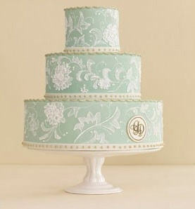 Tiffany blueColors Combos, Blue Wedding Cake, Beautiful Wedding Cake, Pretty Wedding, Tiffany Blue Wedding, Lace Cake, Wedding Cakes, Wedding Colors, Blue Cake