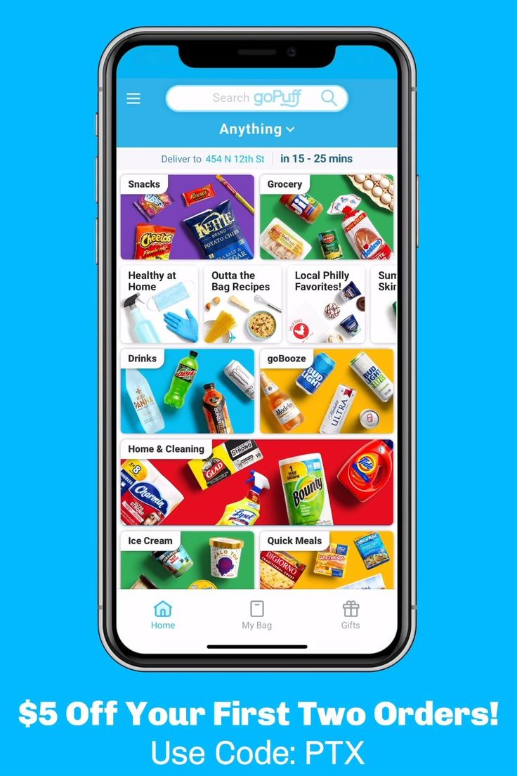 Gopuff snack delivery video in 2020 snack delivery