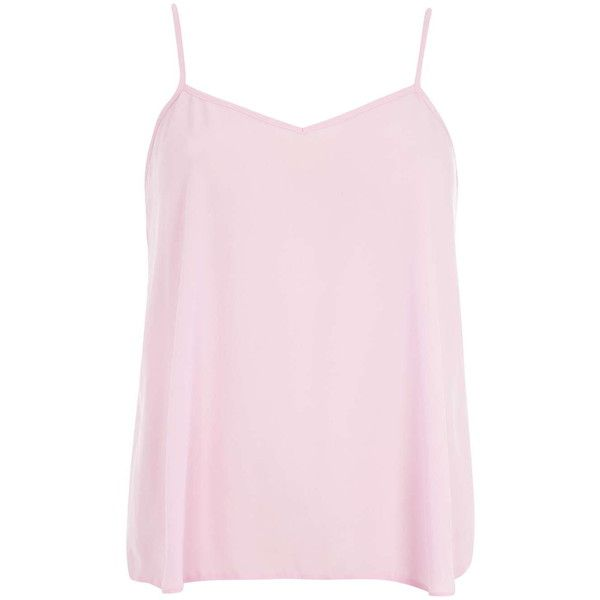 Dorothy Perkins Pale Pink V Front Cami Top ($18) ❤ liked on Polyvore featuring tops, shirts, tank tops, pink camisole, polyester shirt, cami top, cami shirt and pale pink top