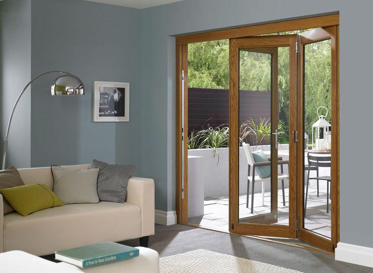 Elite 7ft External Oak Bi-folding Doors | Vufold