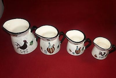 Original Dee Bee Company Imports, Handpainted Porcelain Measuring Cup Set