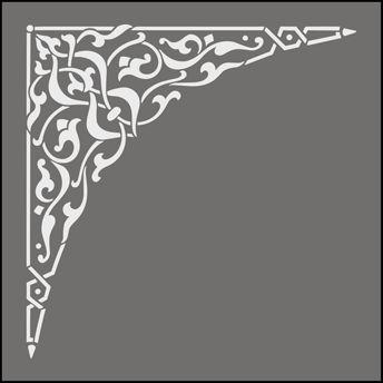 Click to see the actual OTT41 - Spandrel No 1 stencil design.