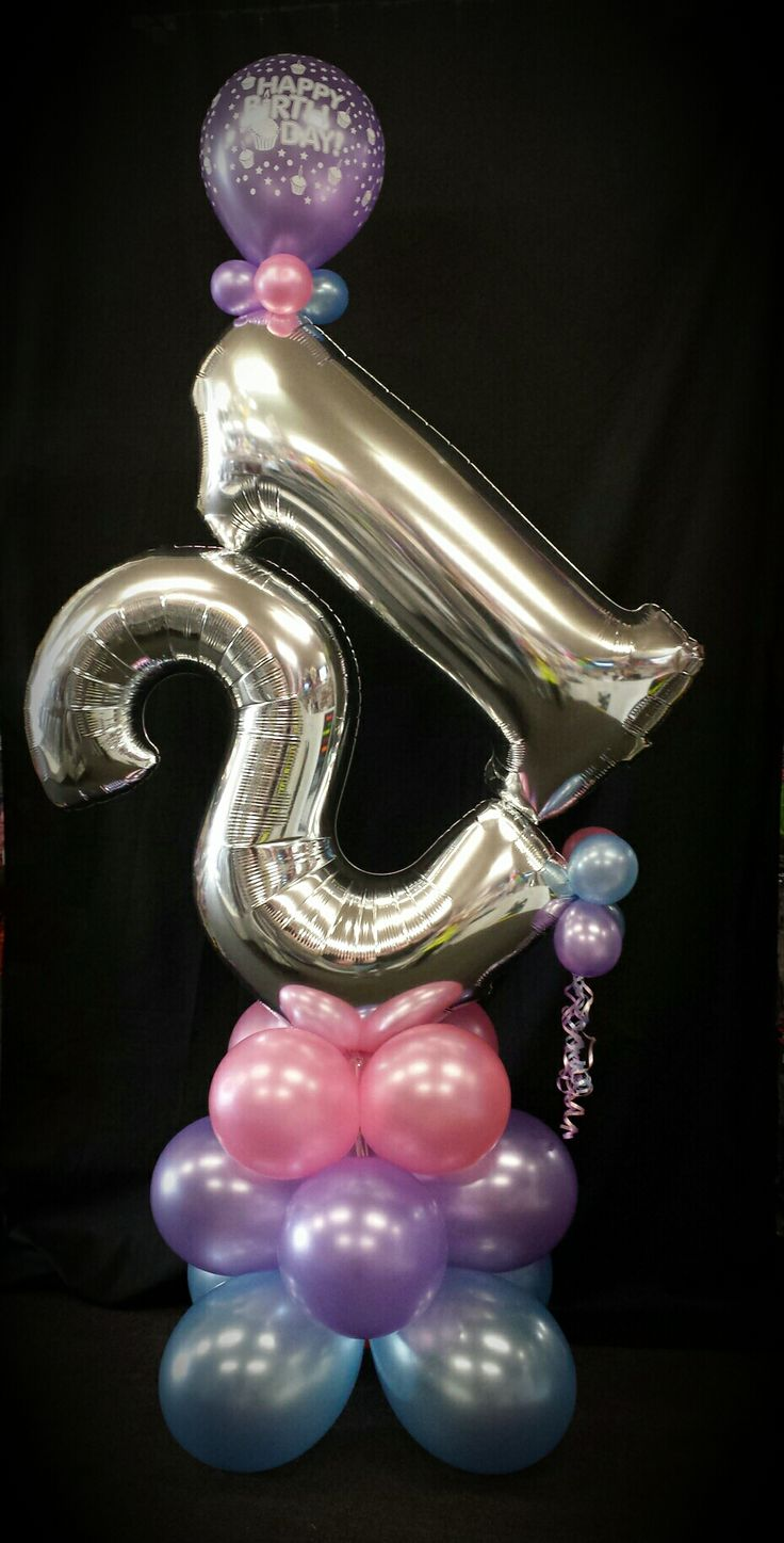 Megaloon Milestone - made in any number and your choice of balloon colours