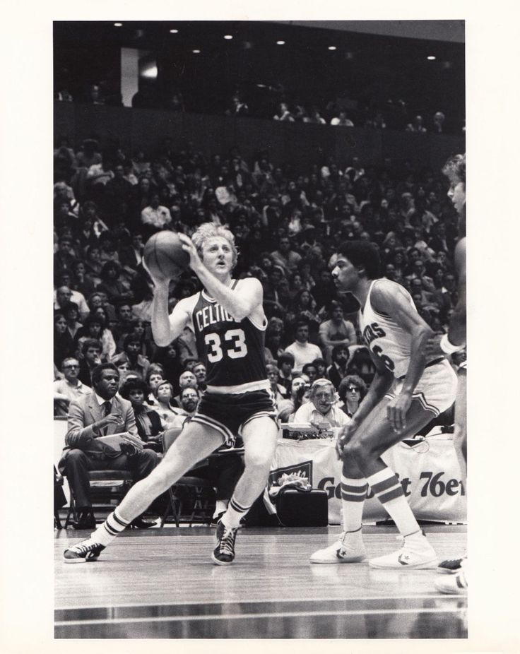 Larry Bird 1979 Rookie Celtics vs Sixers Dr.J 11/10/79 Type 1 Original Photo