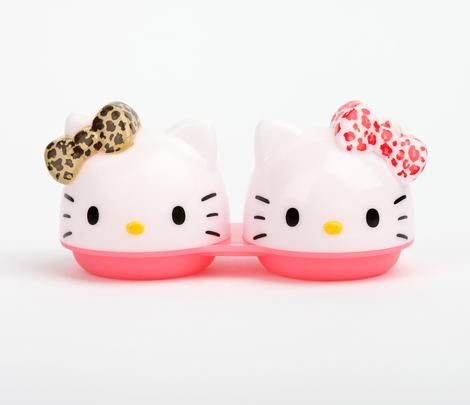 Hello Kitty Contact Lens Case: Leopard Bow @Melissa Magier