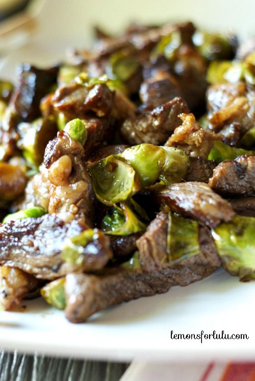 Beef and Brussels Sprouts Stir Fry
