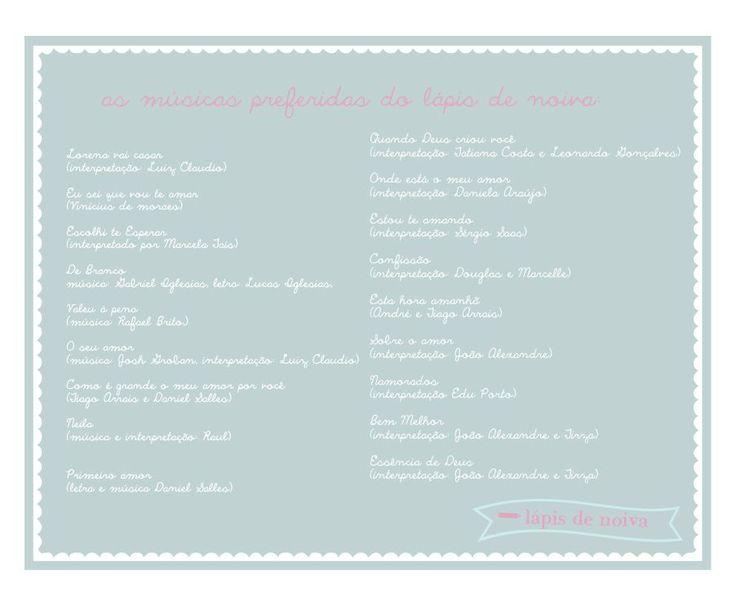músicas para cerimônia de casamento | Lápis de Noiva