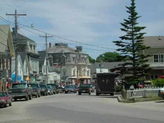 Main street in Vinalhaven, Maine,
