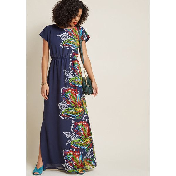 Very Influential Passenger Maxi Dress ($99) ❤ liked on Polyvore featuring dresses, keyhole maxi dress, multi color maxi dress, short sleeve maxi dress, multi coloured dress and multicolor dresses