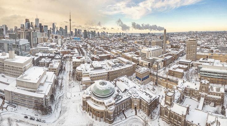 Snowy Toronto Panorama