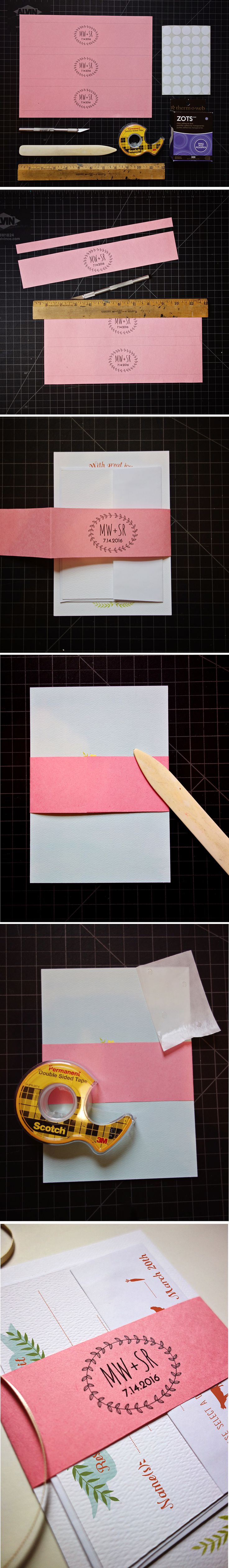 printable belly bands for wedding invitations