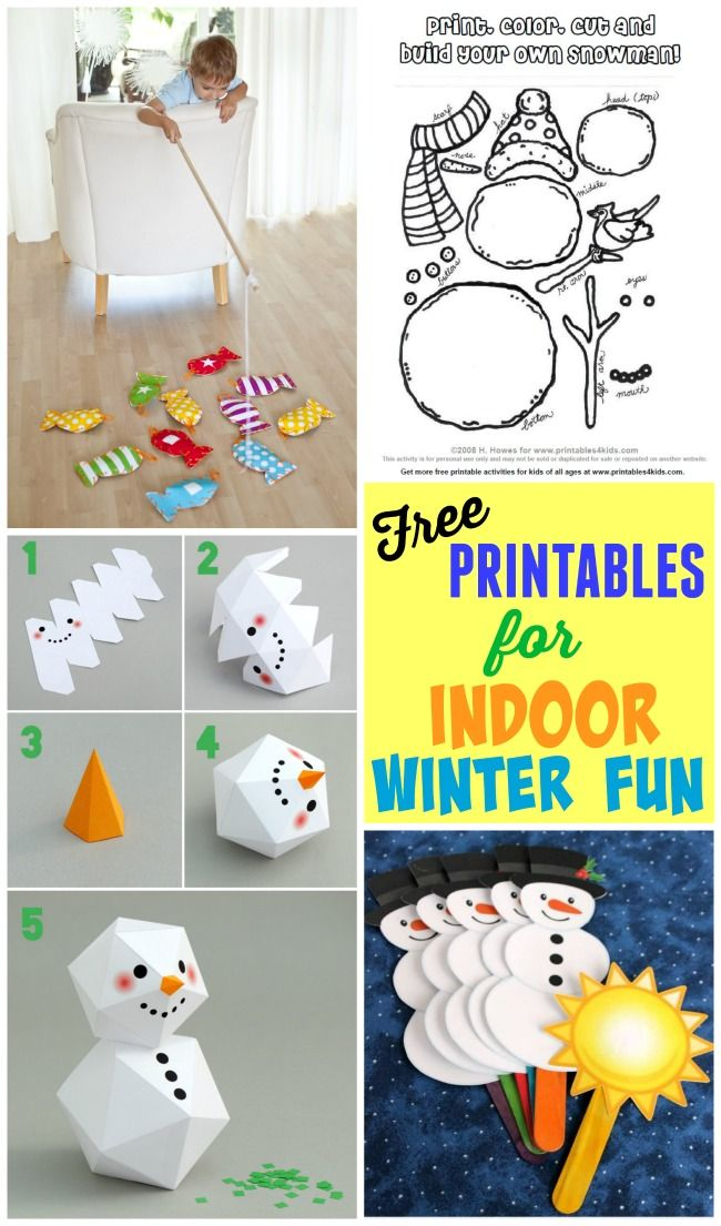 Free printables for indoor winter fun to keep those kids busy at home!