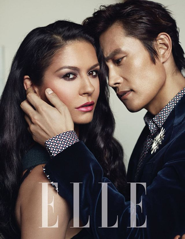 LEE BYUNG HUN & CATHERINE ZETA-JONES IN ELLE KOREA'S AUGUST EDITION