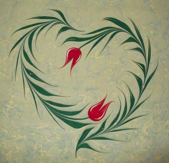 ebru sanatı kalp - Google'da Ara