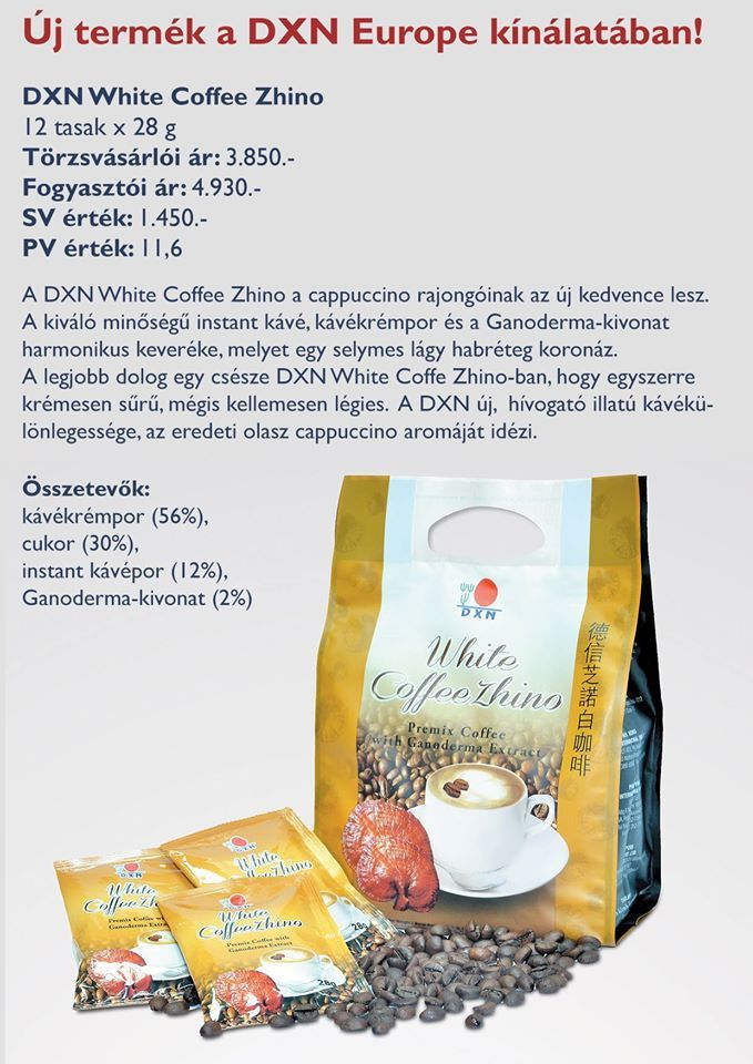Új krémes kávé a DXN kínálatából http://bea.ganodermakave.hu/termekek#zhi-cafe-classic