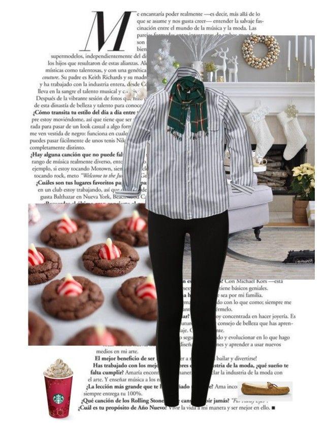 Christmas Eve by lj-case on Polyvore featuring polyvore, fashion, style, GANT, NIKE, UGG, Natasha Sherling, Humble Chic and clothing