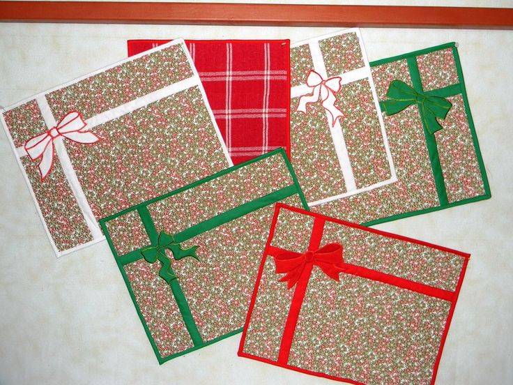 Oh-so-easy Christmas placemats
