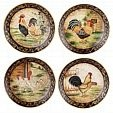 vintage 'feel' rooster plates
