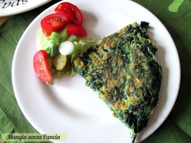 Per fare la Frittata di spinaci leggera c'è bisogno solo di 3 ingredienti: facile, veloce e principalmente gustosissima!