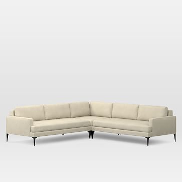 Andes Set 3, Right Arm 2.5 Seater Sofa, Left Arm 2.5 Seater Sofa, Corner, Nubby Weave, Snow