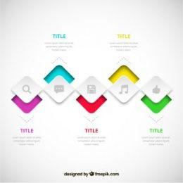 Infográfico processo em estilo moderno