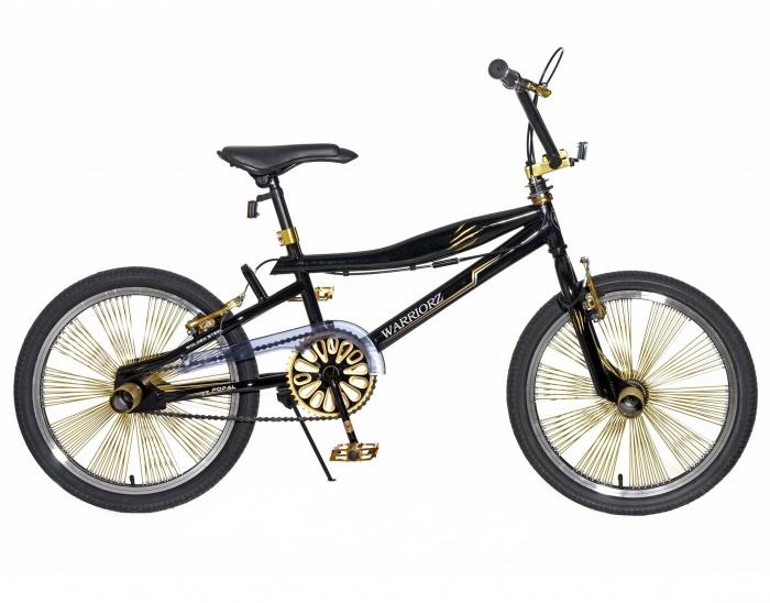 Crossfiets Warrior Zwart - Goud 20 Inch | bestel gemakkelijk online op Fietsen-verkoop.nl