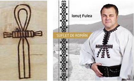 Simbolul egiptean al Soarelui dătător de viață pe cămășile daco-românilor.
