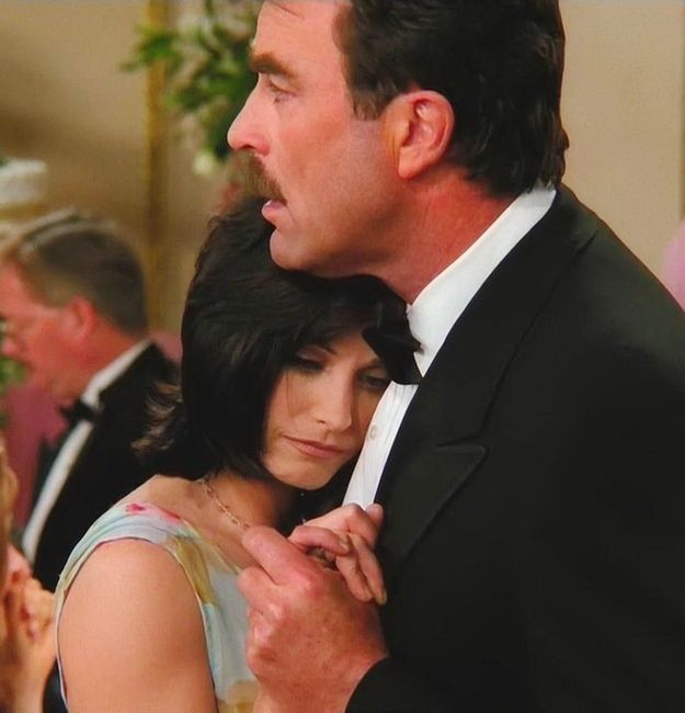 """Richard and Monica break up on the dance floor of Barry and Mindy's wedding. 